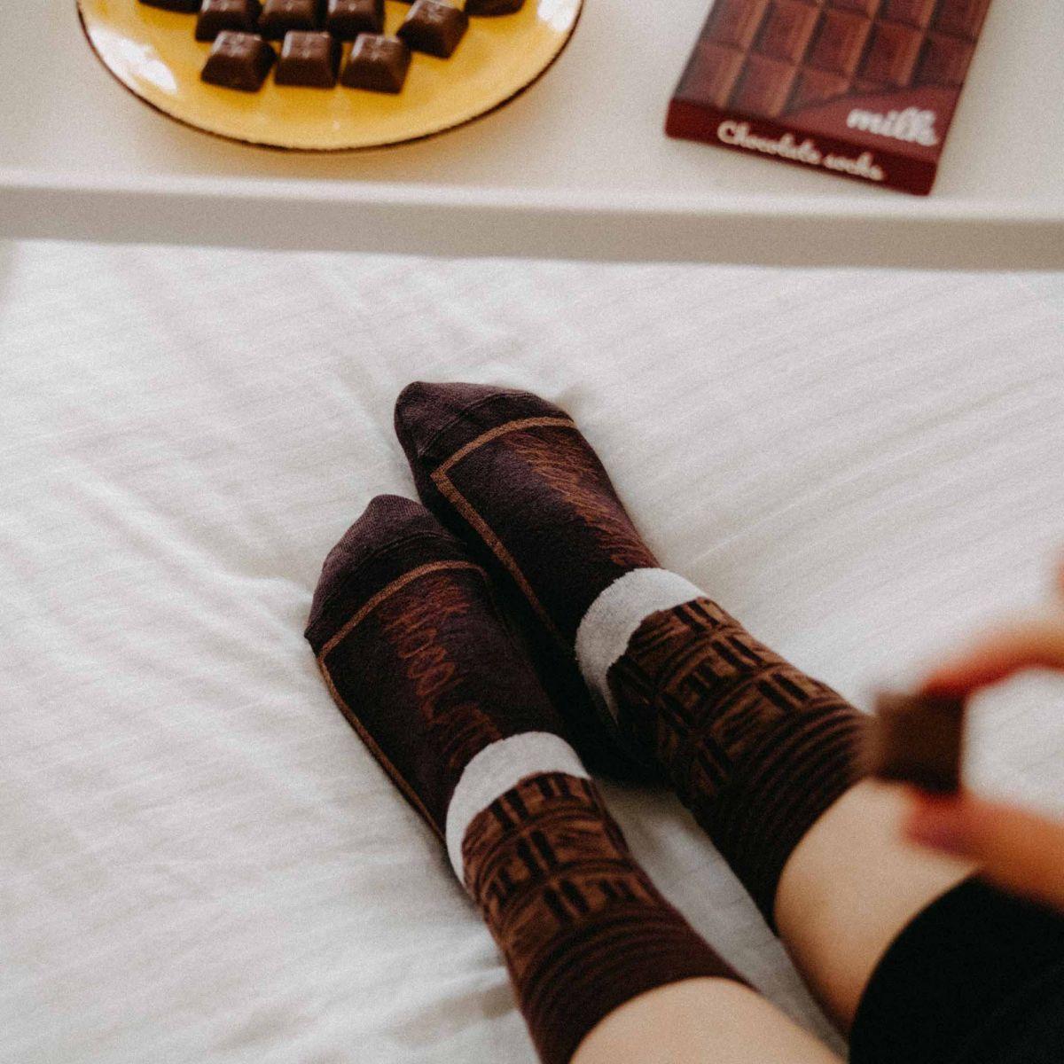 Ponožky - Čokoláda v dárkové krabičce p1