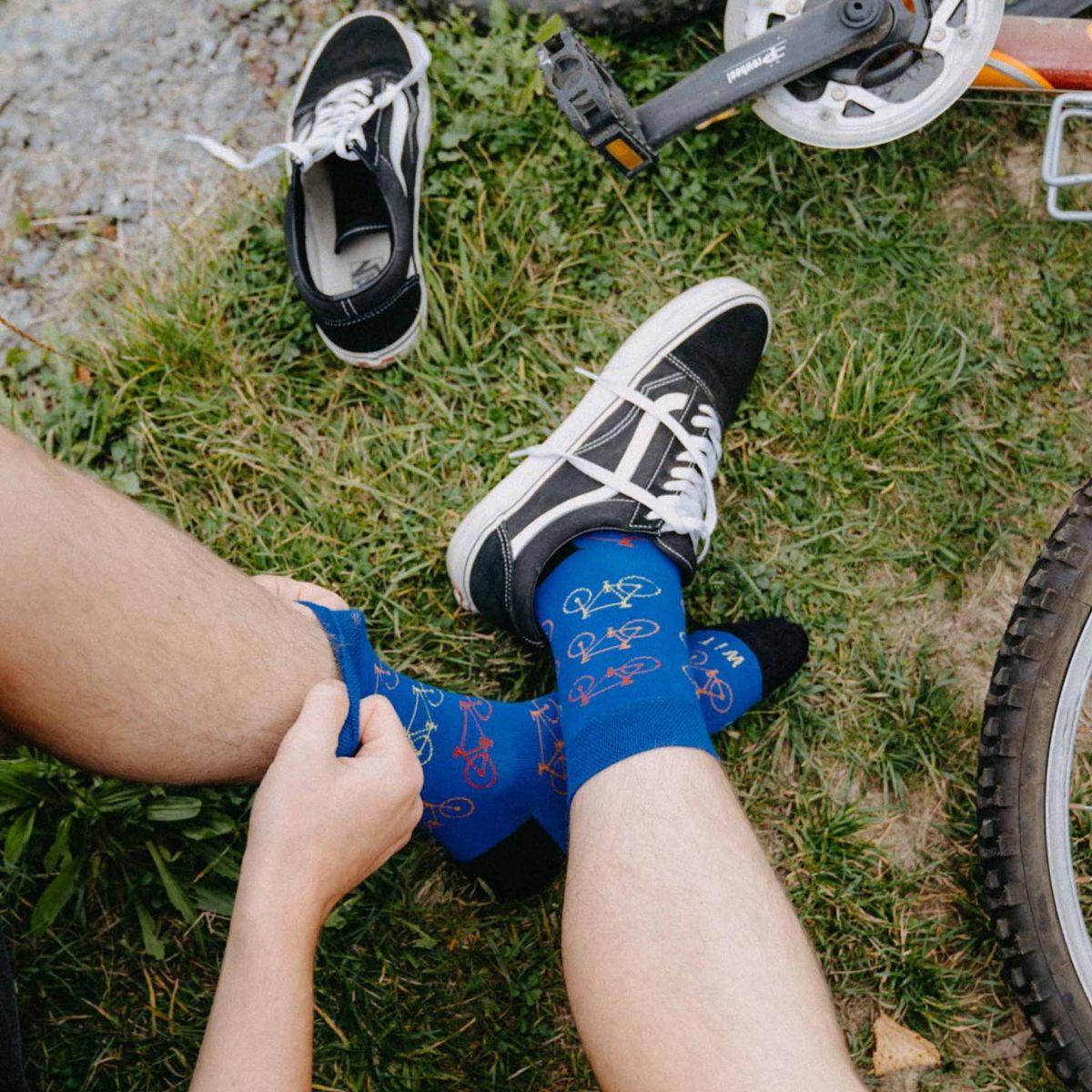 Ponožky - Bicykel - modré p1