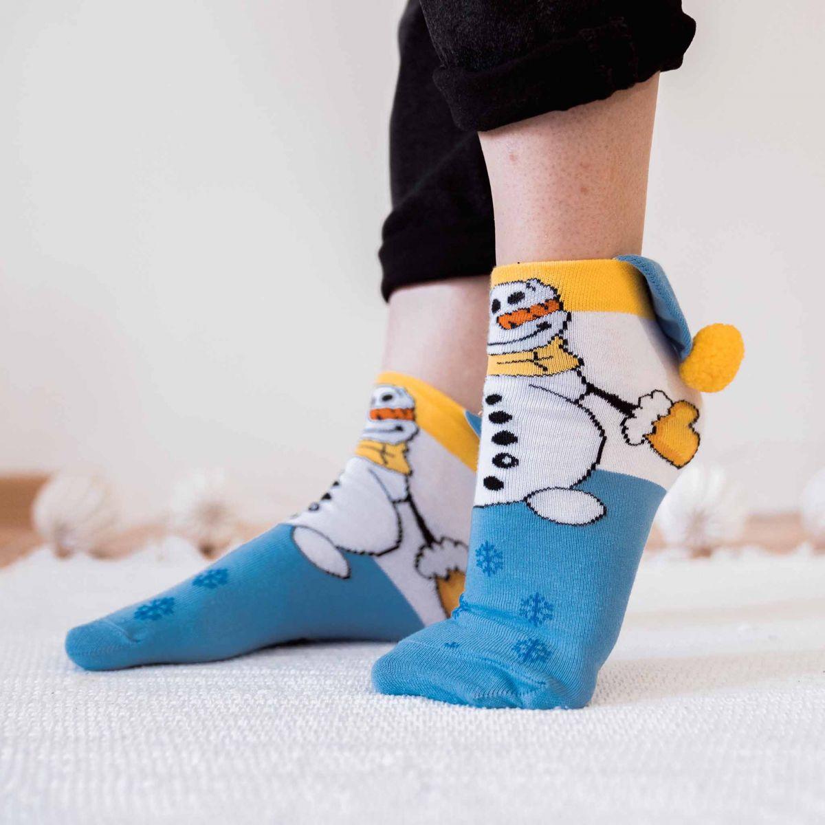 Ponožky - Sněhulák p2