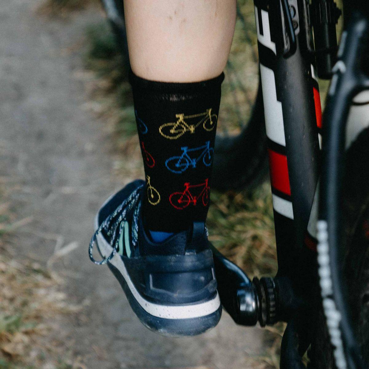 Ponožky - Kolo černé