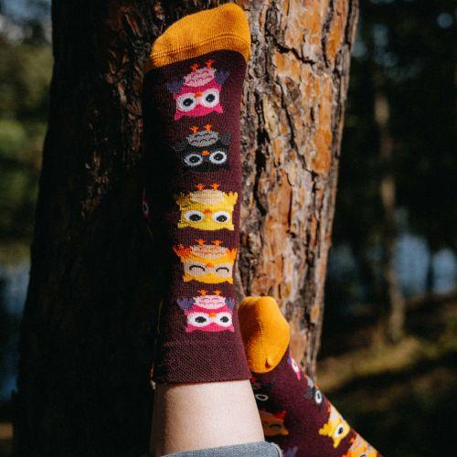 Ponožky - Sova vínová