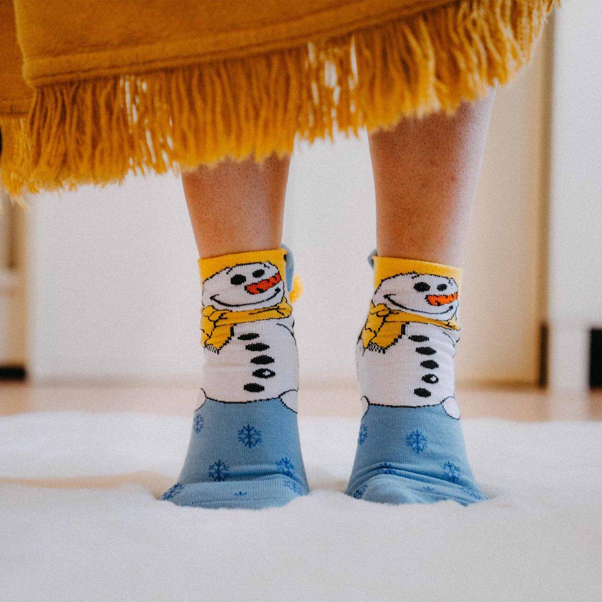 Ponožky - Sněhulák p3