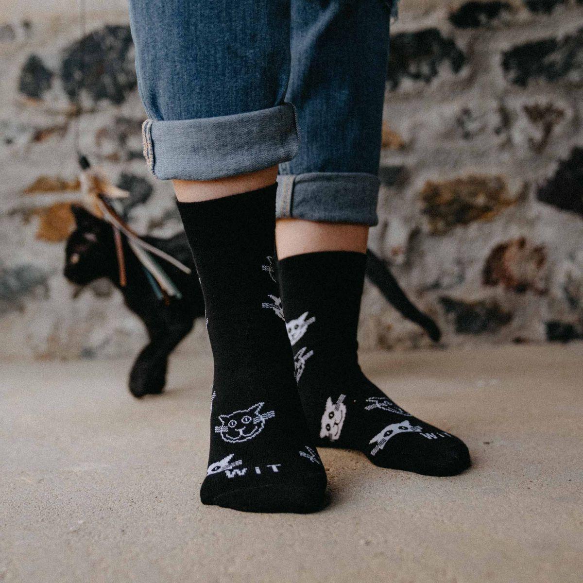 Ponožky - Mačky čierne