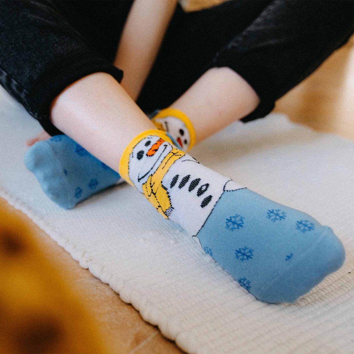 Ponožky - Sněhulák p4