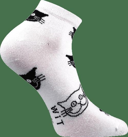 Socken - Katzen - weiß - niedrig p2