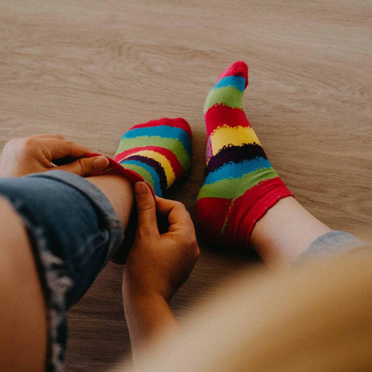 Ponožky - Pruhy nízké p2