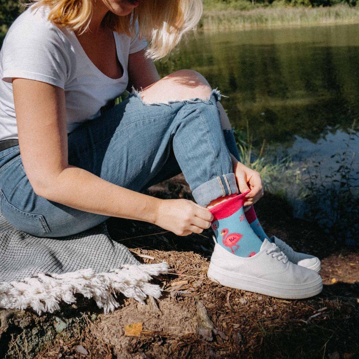Socken - Flamingo p2