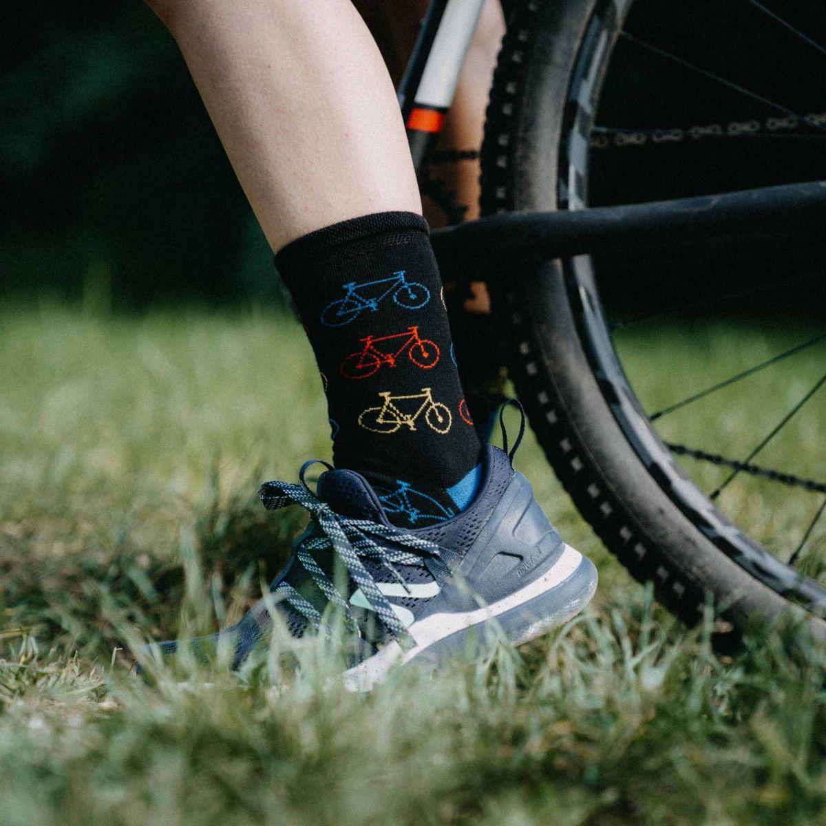 Ponožky - Bicykel čierne p4