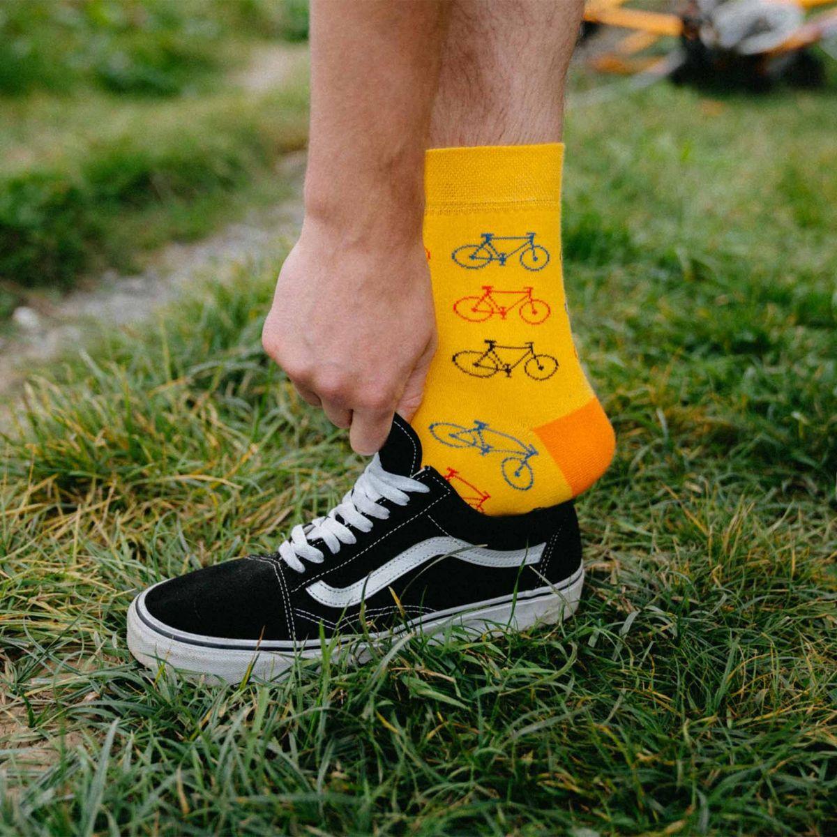 Ponožky - Bicykel - žltá p1
