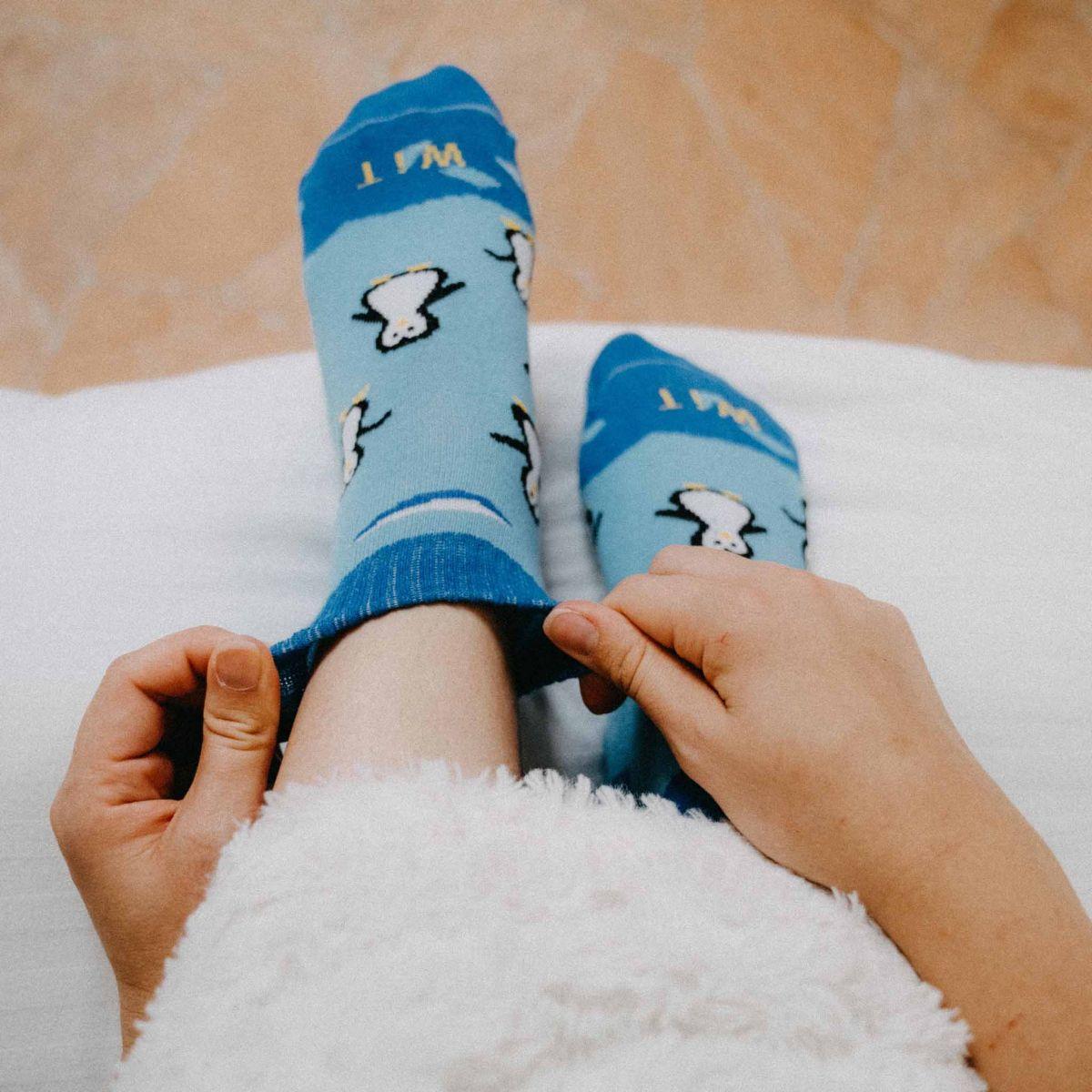 Ponožky - Tučňák nízké p1
