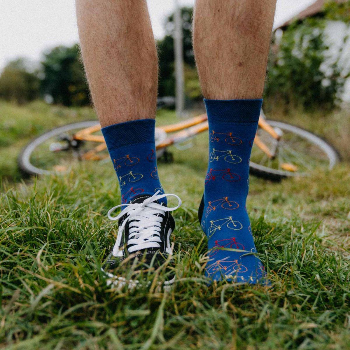 Ponožky - Bicykel - modré p2
