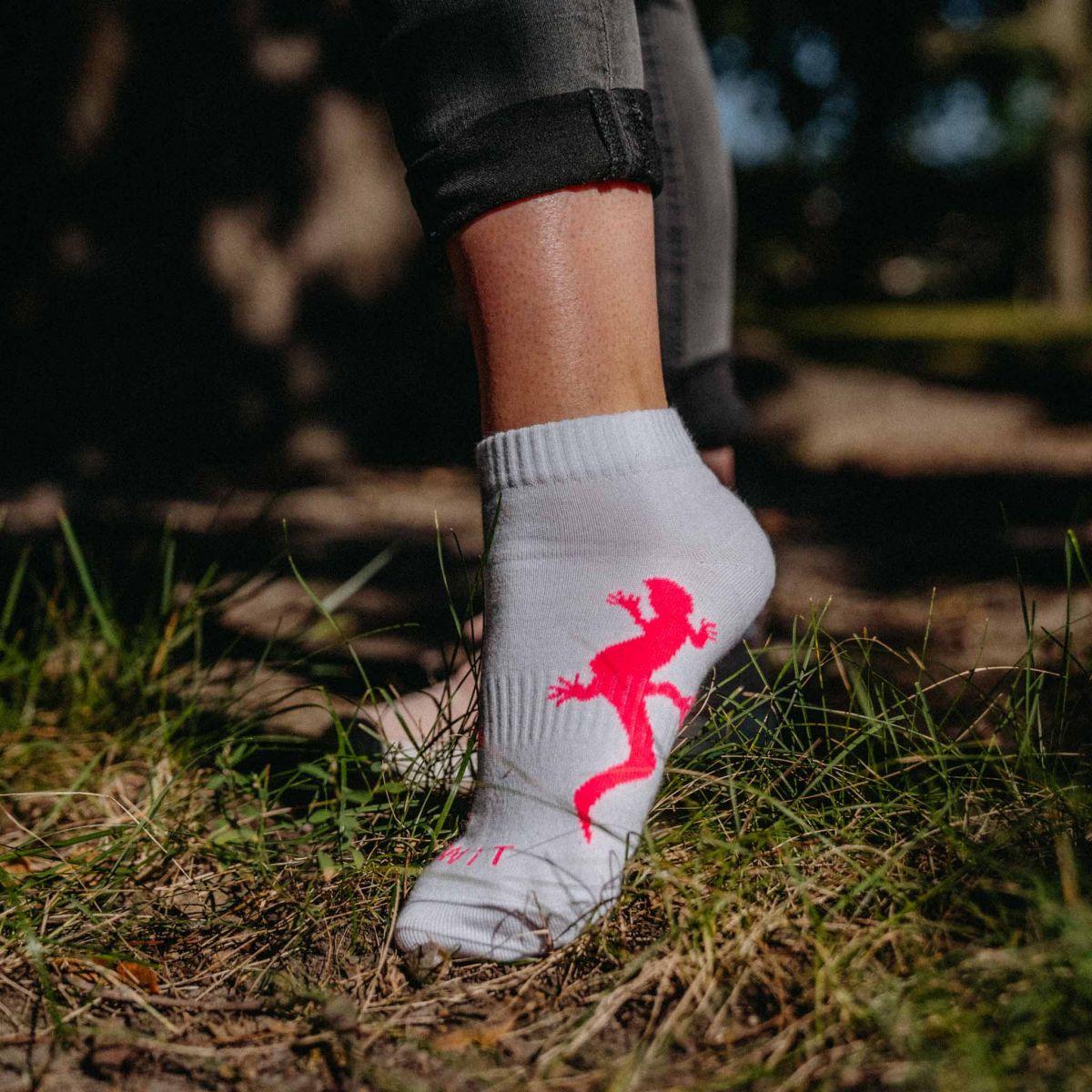 Ponožky - Ještěrka bílé p2