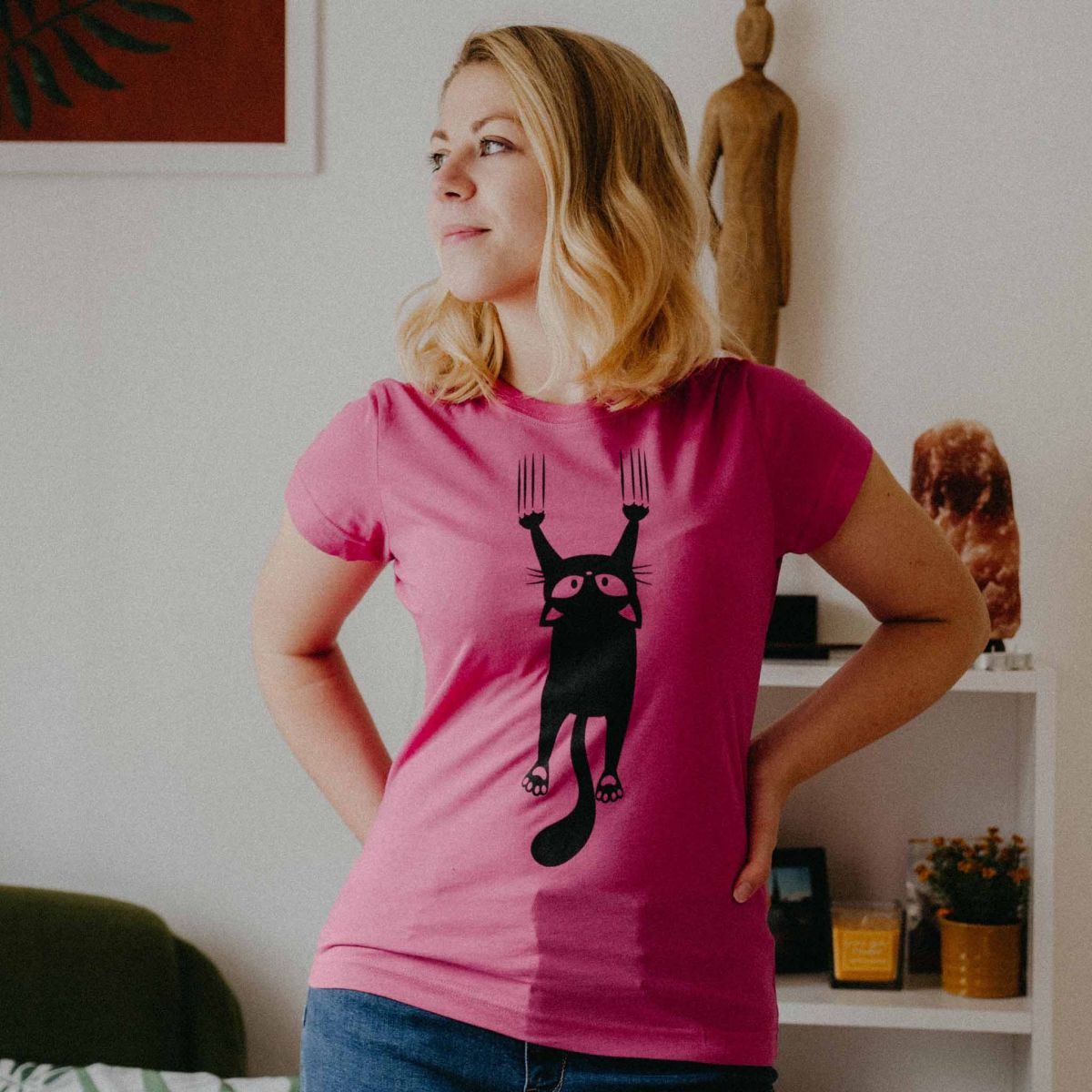 Dámské tričko Kočka