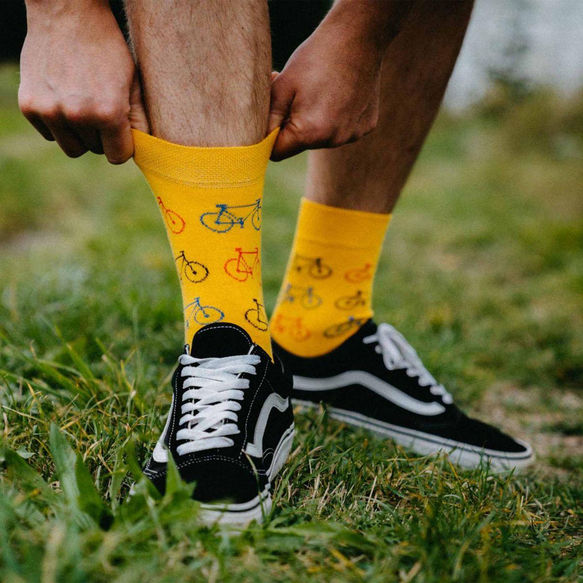 Ponožky - Bicykel - žltá p2