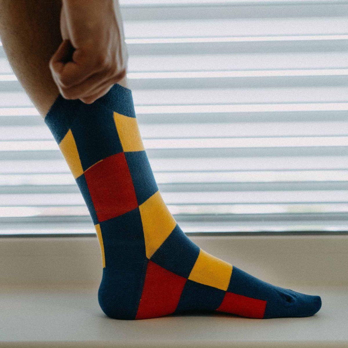 Ponožky -  Kostky barevné p2