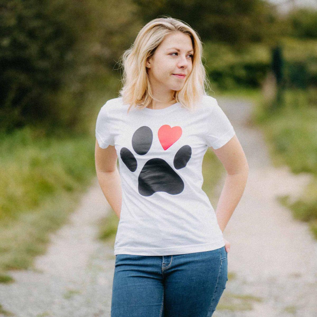 Damen T-Shirt - Pfote p2