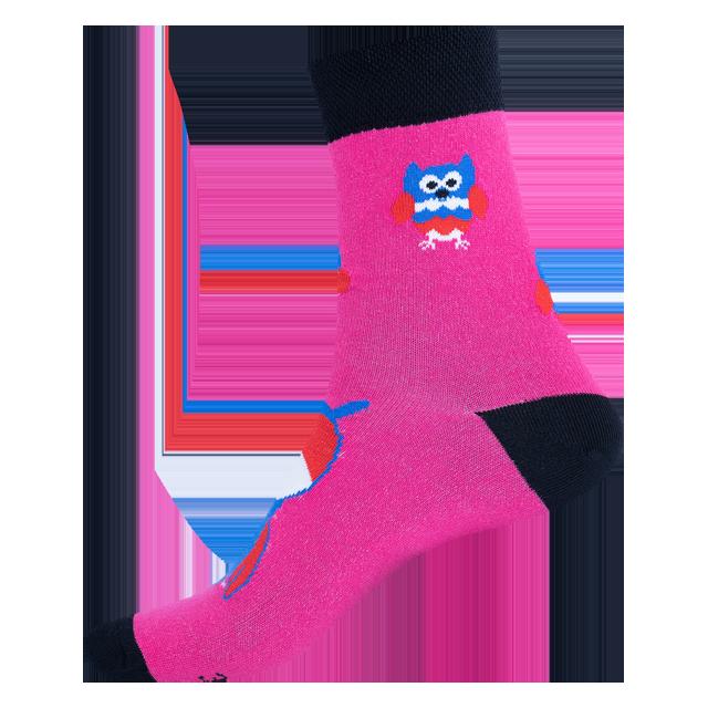 Ponožky - Sova magenta p2
