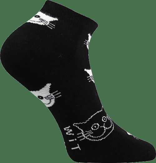 Ponožky - Mačky čierne - nízke p2