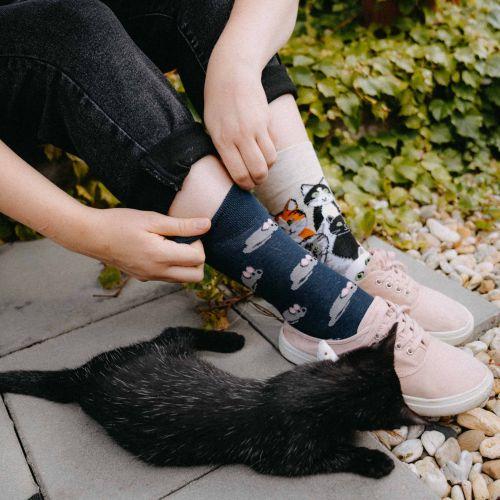 Ponožky - Mačka/myš p3