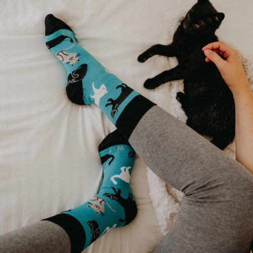 Socken - Katzen - Minze p3