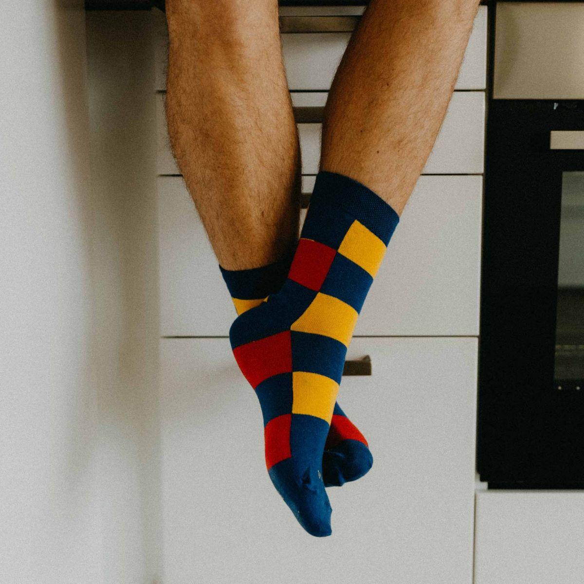 Ponožky -  Kostky barevné p3