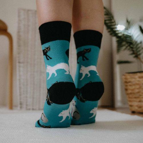 Socken - Katzen - Minze p4