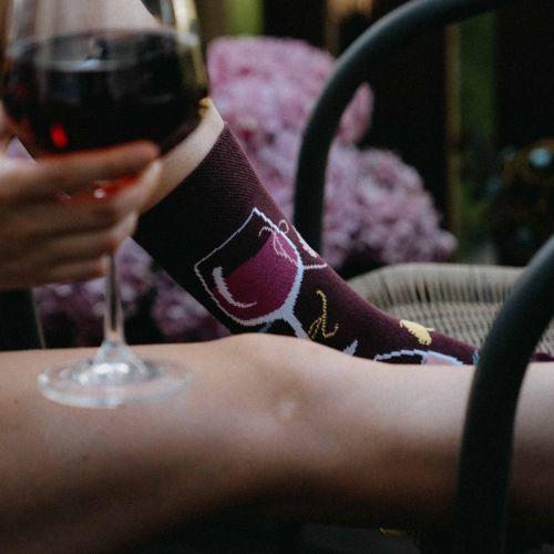 Ponožky - Víno p3