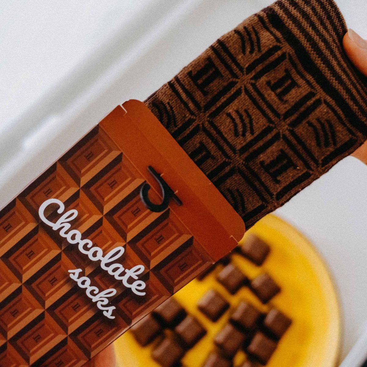 Ponožky - Čokoláda v dárkové krabičce p5