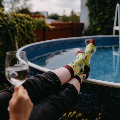 Șosete - Vin alb p2