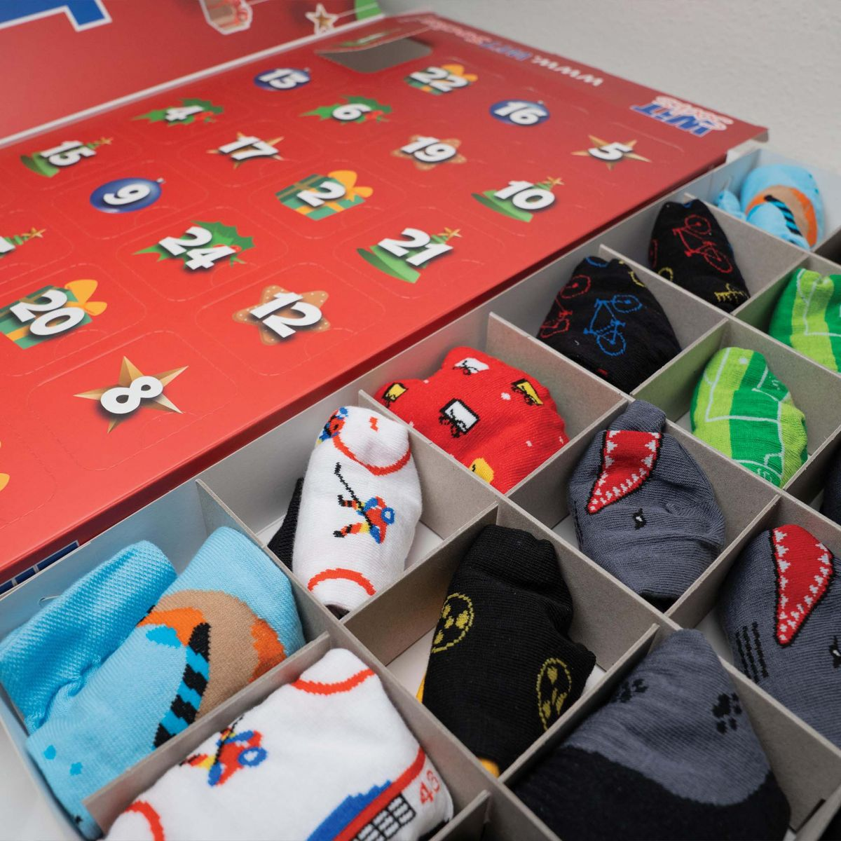 Kalendář - 12 párů ponožek - pánský p4