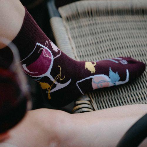 Ponožky - Víno p4