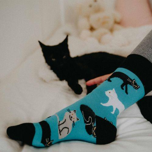 Socken - Katzen - Minze p5