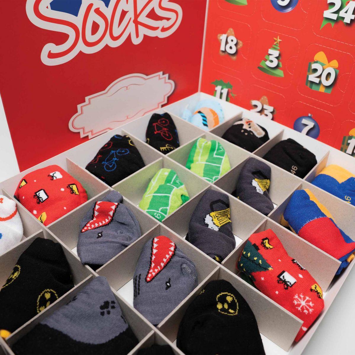 Kalendář - 12 párů ponožek - pánský p5