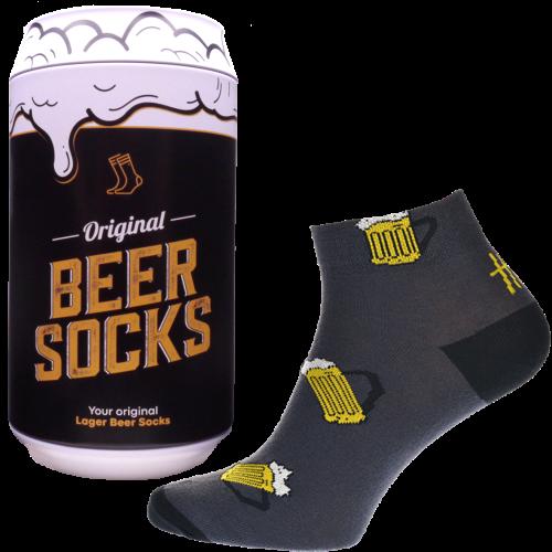 Ponožky - Pivo 13 v dárkové pivní plechovce