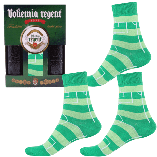 Dárkový set - 2 Piva Bohemia Regent + 3x Ponožky Fotbal 2