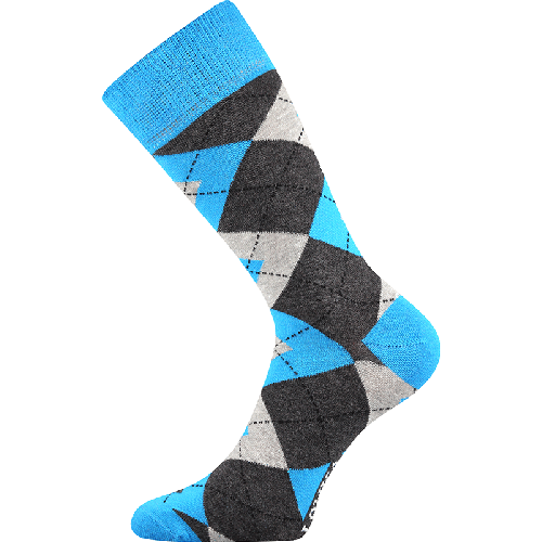 Skarpetki - Karo - niebieskie