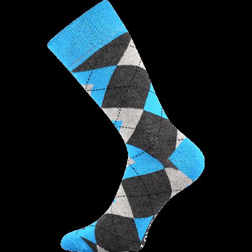 Socken - Raute - blau