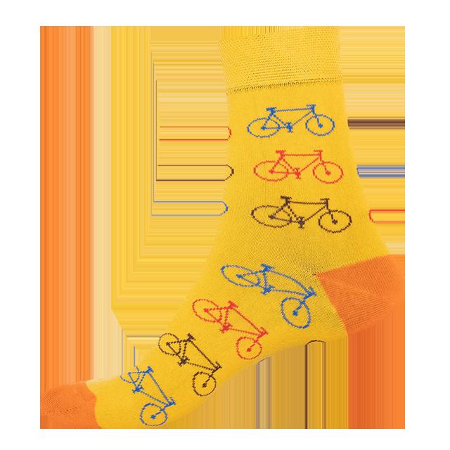 Ponožky - Bicykel - žltá main