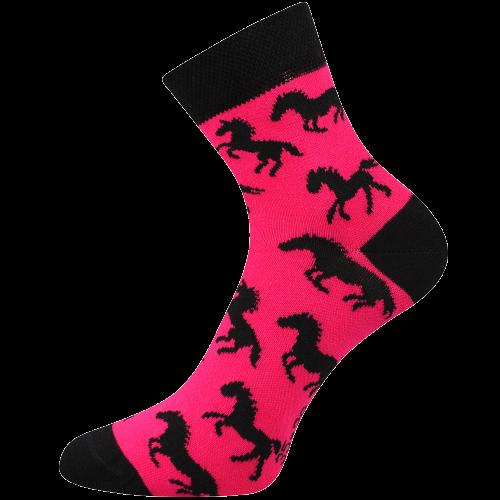 Ponožky - Kôň - ružové