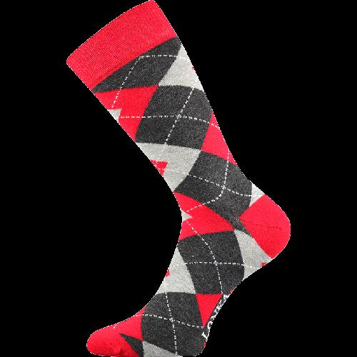 Ponožky - Káro - červená