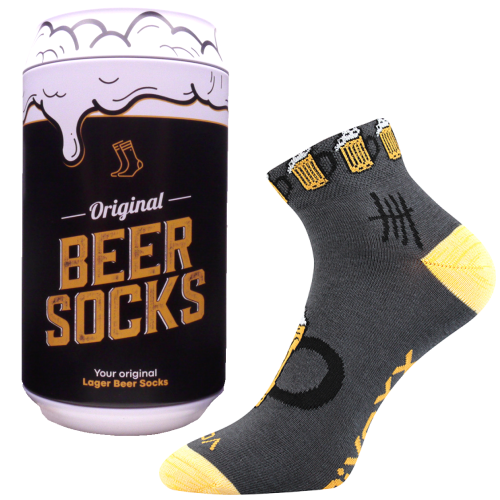 Ponožky - Pivo 12 v darčekovej pivnej plechovke