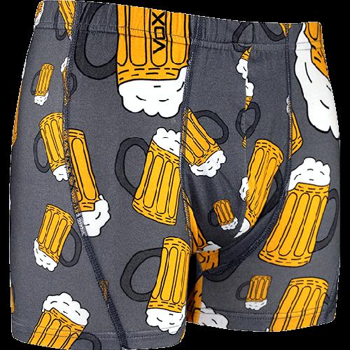 Boxerky - Pivo - šedé