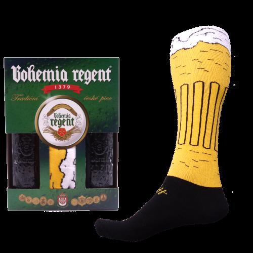 Darčekový set - 2 Piva Bohemia Regent + Podkolienky Pivo