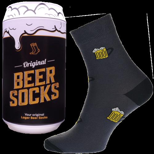 Ponožky - Pivo 4 v dárkové pivní plechovce