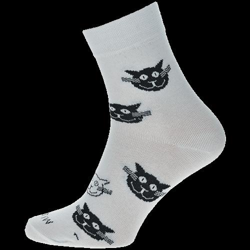 Socken - Katzen - weiß