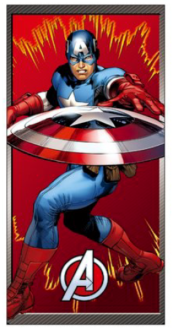 Osuška Avengers - červená ER4253