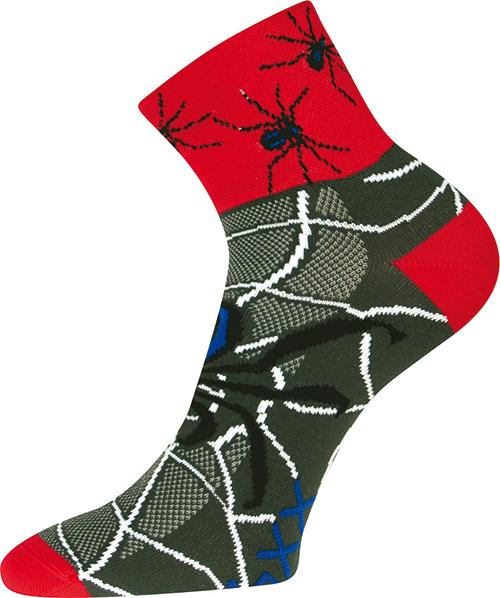 Ponožky - Pavouk - červený