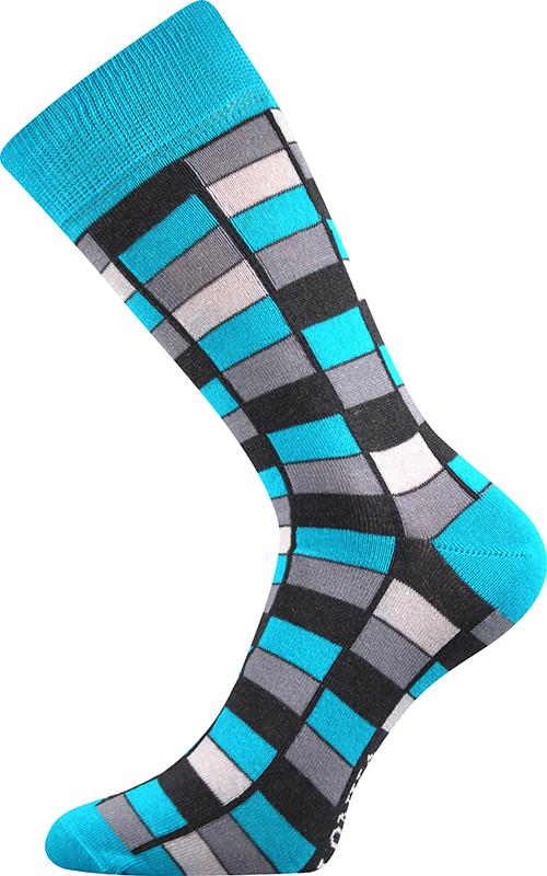 Ponožky - Mozaika - modrá