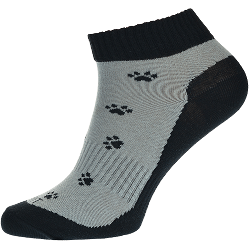 Ponožky - Tlapka černá nízké