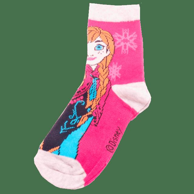 Dětské ponožky Frozen tm.růžové